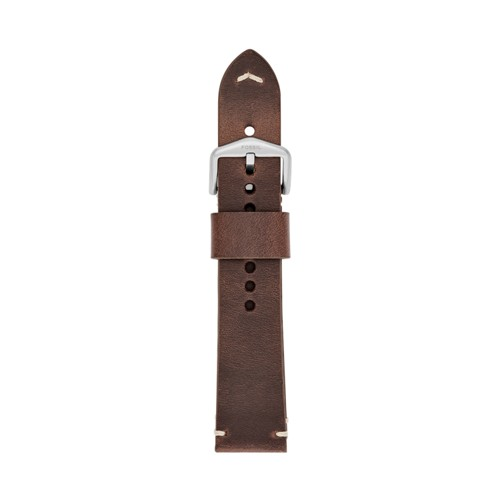 Fossil 22mm Brown Leather Watch Strap S221365