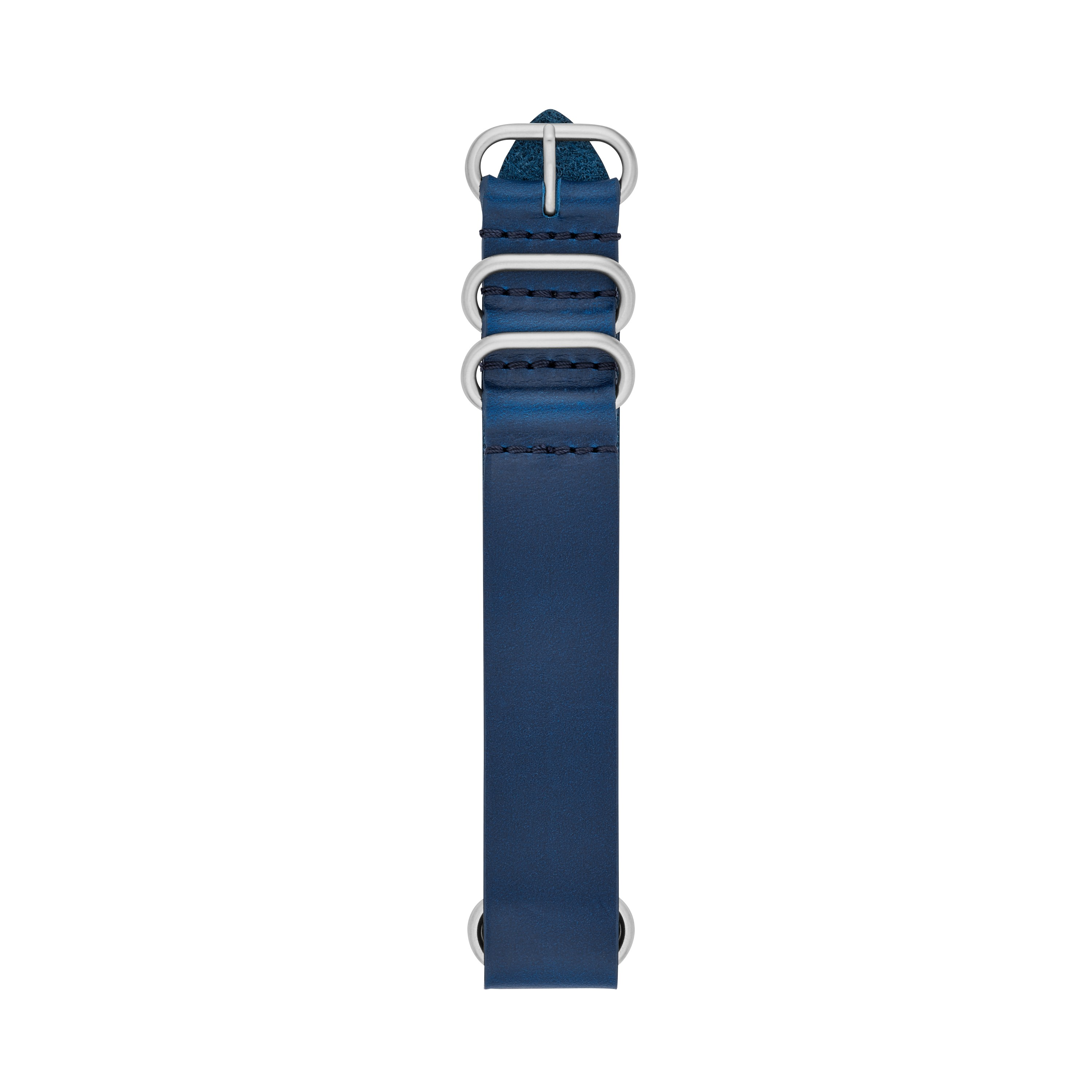 Fossil 22Mm Blue Leather Watch Strap S221378