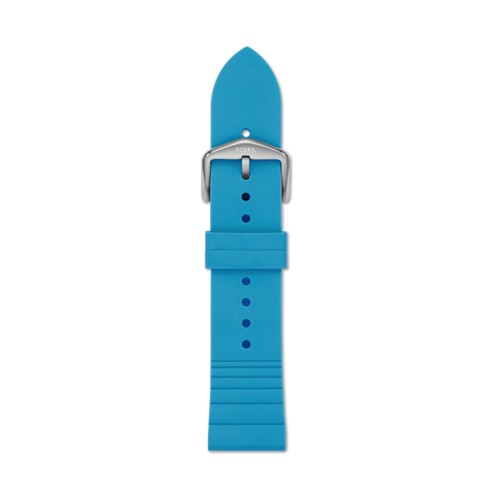 Fossil 22mm Electric Blue Silicone Strap S221386