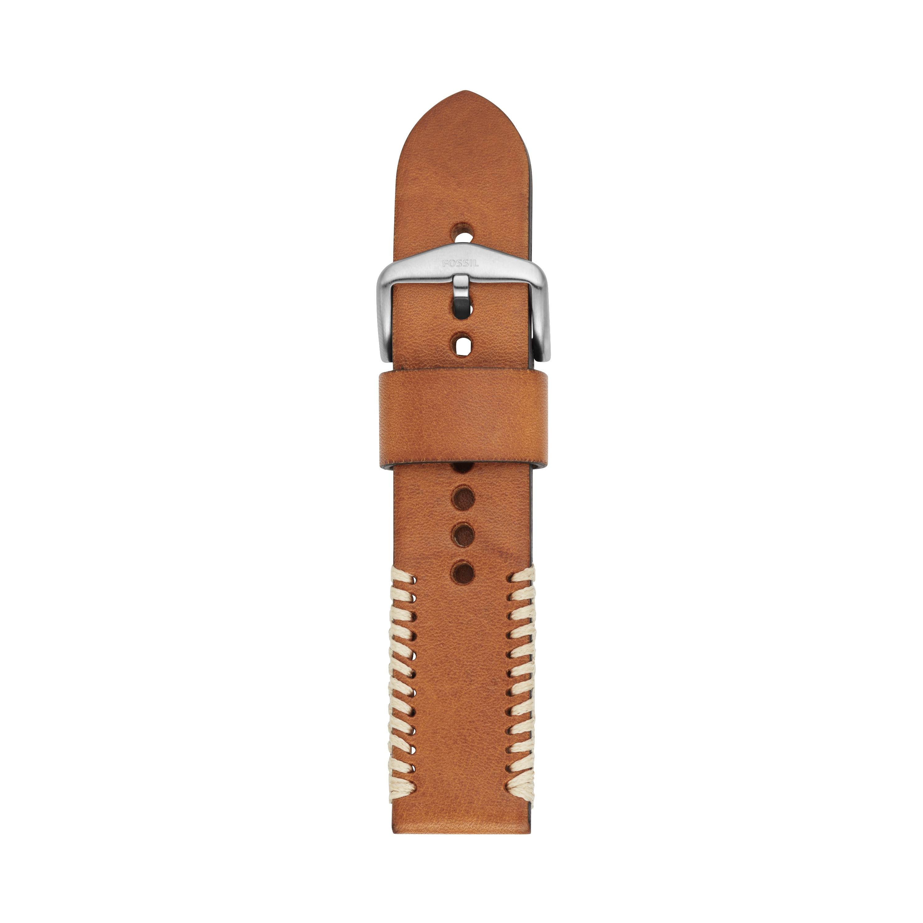 Fossil 22Mm Tan Leather Watch Strap S221389