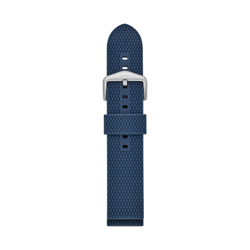 Fossil 22mm Blue Silicone Watch Strap S221414