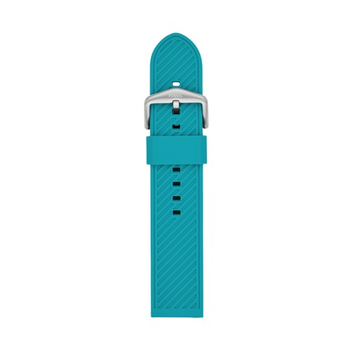 Fossil 22mm Teal Silicone Strap S221426