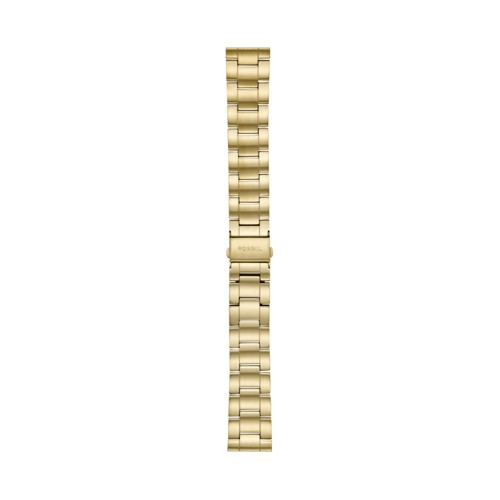 Fossil 22mm Three-Row Gold-Tone Stainless Steel Bracelet S221439