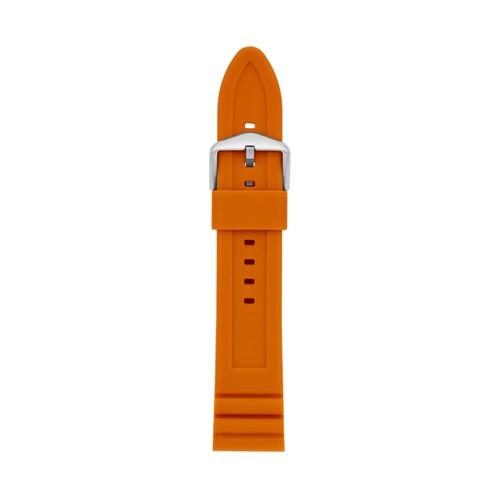22mm Orange Silicone Watch Strap S221457