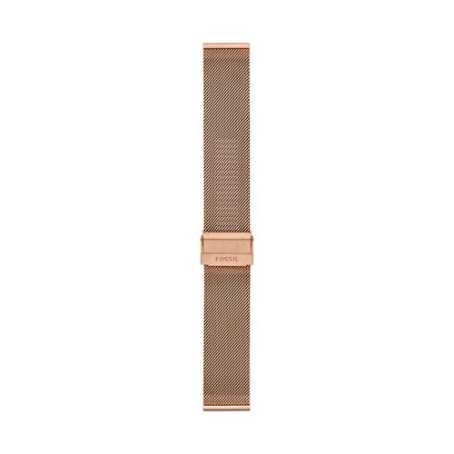 22mm Rose Gold-Tone Stainless Steel Mesh Bracelet S221464