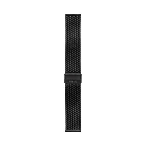 Fossil 22Mm Black Stainless Steel Mesh Bracelet
