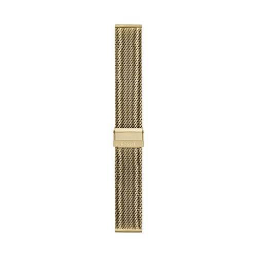 22mm Gold-Tone Stainless Steel Mesh Bracelet S221467