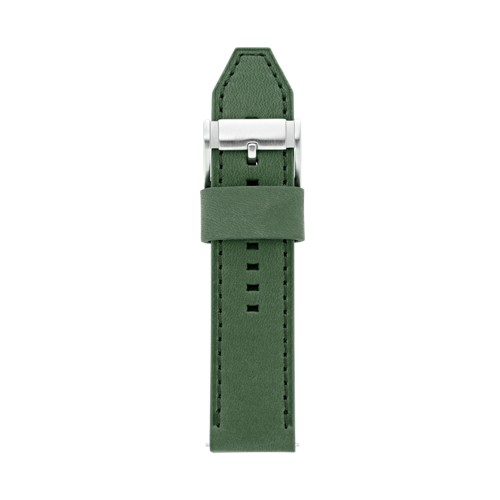 Fossil Leather 24Mm Watch Strap - Green S241048