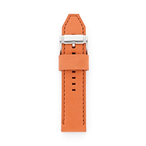 Fossil Leather 24Mm Watch Strap - Orange S241049