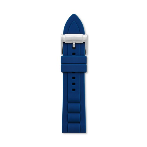 fossil Silicone 24mm Watch Strap - Blue S241067