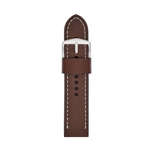 24mm Brown Leather Watch Strap S241077