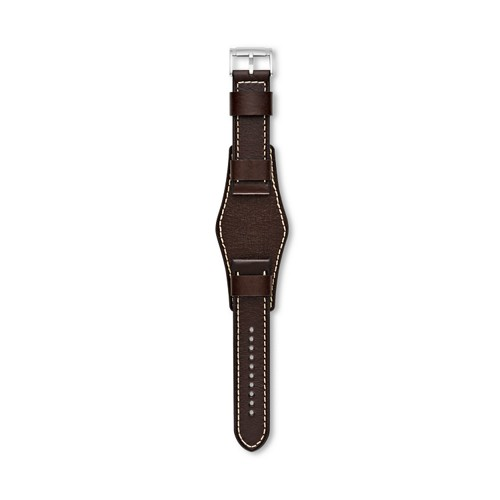 Fossil Dark Brown 24mm Watch Leather Strap S241082