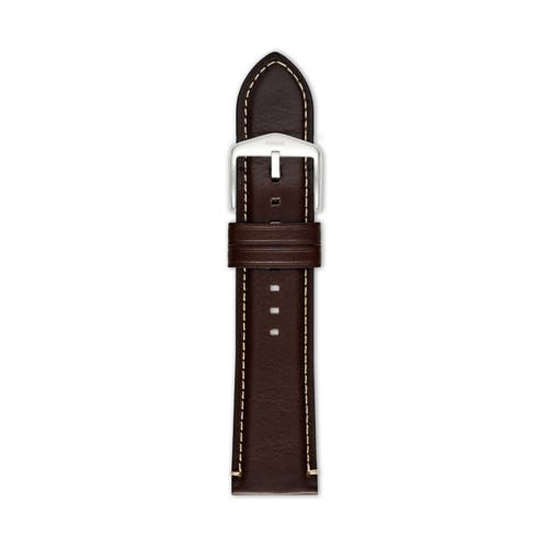 Dark Brown Leather 24mm Watch Strap S241083