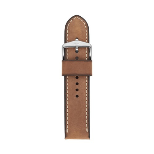 24mm Light Brown Leather Strap S241085