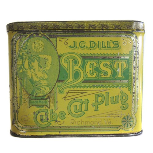 Fossil Best Cut Plug Tobacco Tin Sdi6111