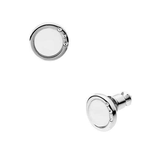 Skagen Sea Glass Silver-Tone Stud Earrings Skj0103040 Earrings - SKJ0103040-..