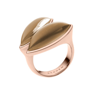 Ditte Rose Gold-Tone Glass Wrap Ring