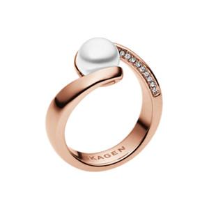Agnethe Embellished Crystal Pearl Ring