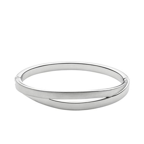 Skagen Elin Silver-Tone Bangle Bracelet Skj0714040 Jewelry - SKJ0714040-WSI