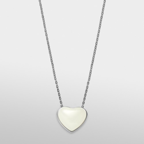 Skagen Katrine Silver-Tone Heart Necklace Skj0783040