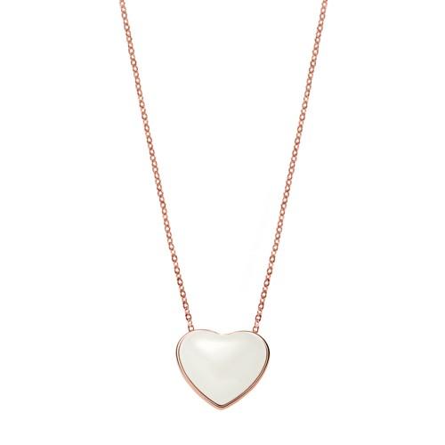 Skagen Katrine Rose-Tone Heart Necklace Skj0784791