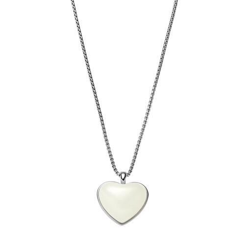 Skagen Katrine Silver-Tone Heart Necklace Skj0785040