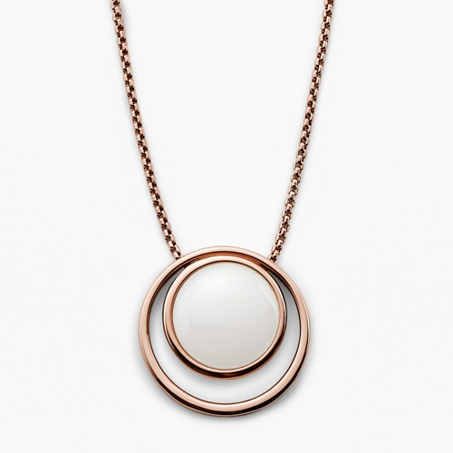 Skagen Sea Glass Rose Gold-Tone Necklace Skj0821791 Jewelry - SKJ0821791-WSI