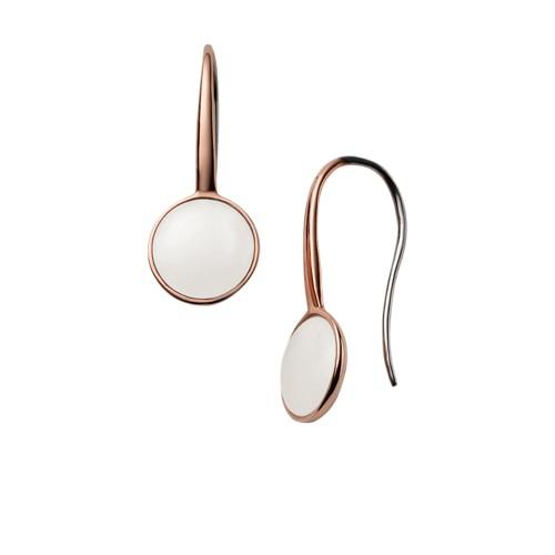 Skagen Sea Glass Rose Gold-Tone Drop Earrings Skj0824791 Jewelry - SKJ082479..