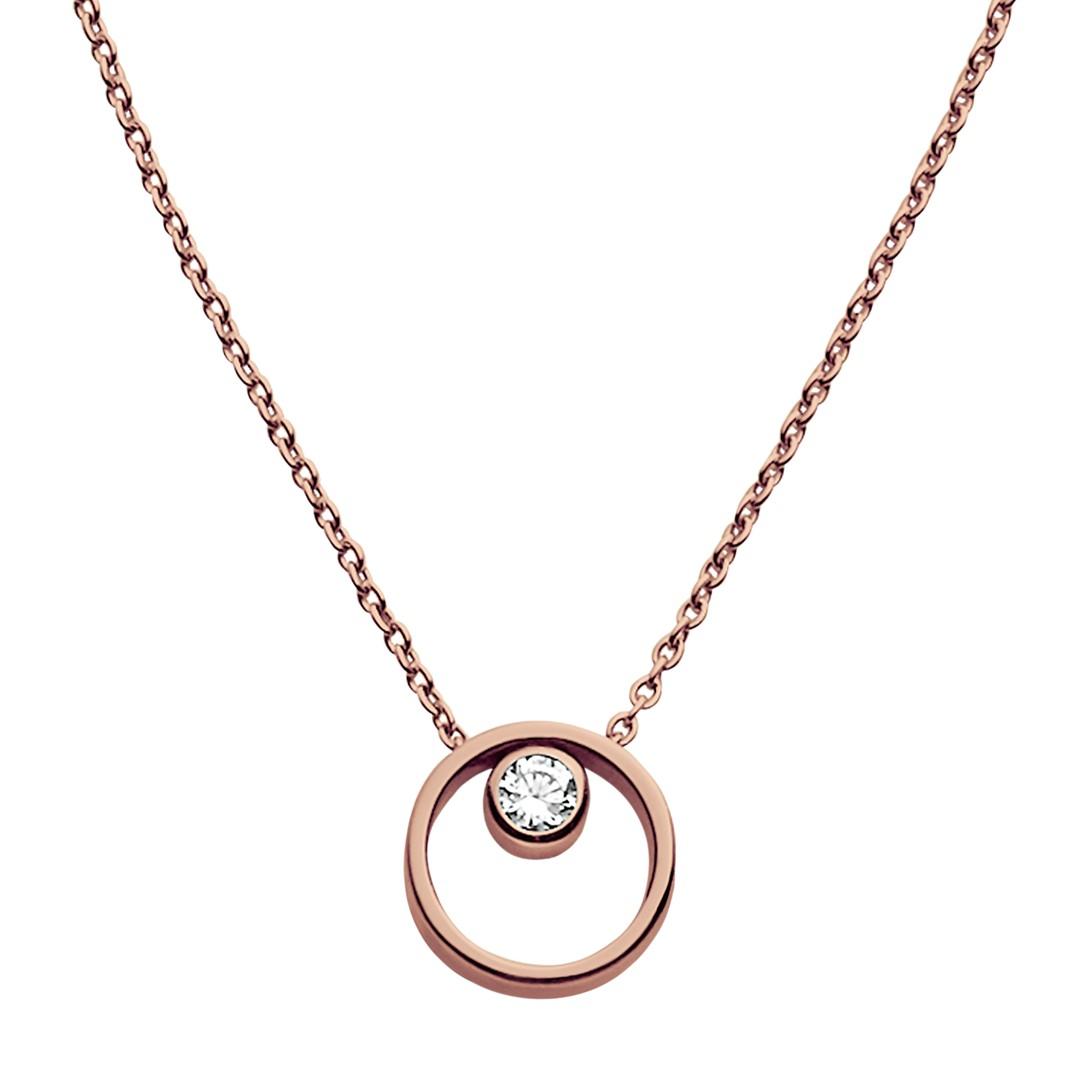 Skagen Elin Crystal Circle Necklace Skj0850791 Jewelry - SKJ0850791-WSI
