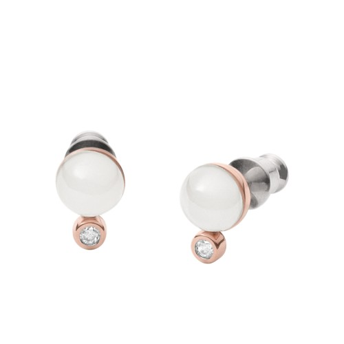 Skagen Sea Glass And Crystal Rose-Gold-Tone Stud Earrings Skj0969791 Jewelry..