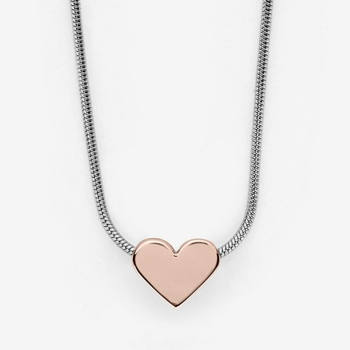 Skagen Katrine Two-Tone Heart Pendant Necklace Skj0987998