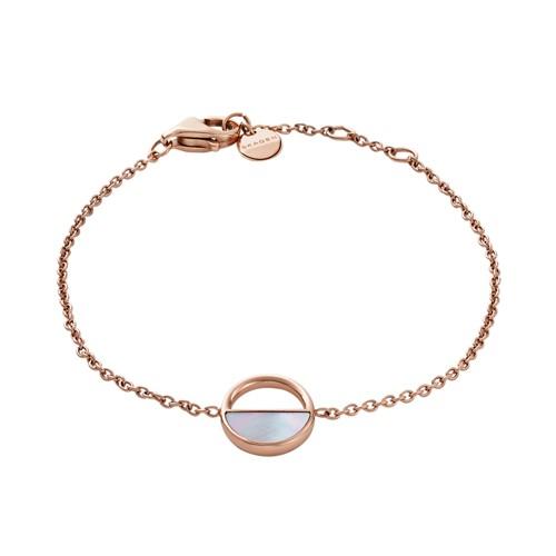 Skagen Elin Rose-Gold-Tone And Mother-Of-Pearl Bracelet Skj0999791