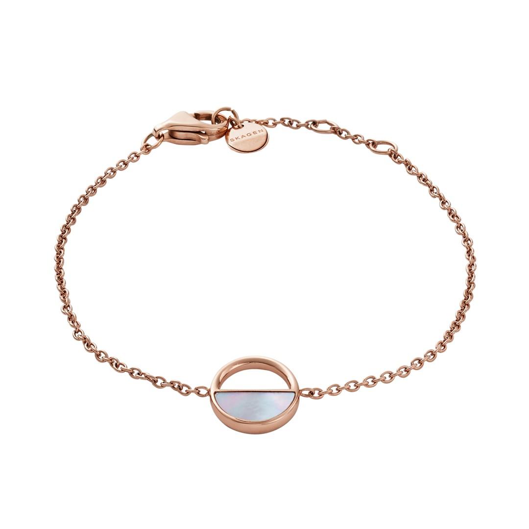 Skagen Agnethe Rose-Gold-Tone And Mother-Of-Pearl Bracelet Skj0999791 Jewelry - SKJ0999791-WSI