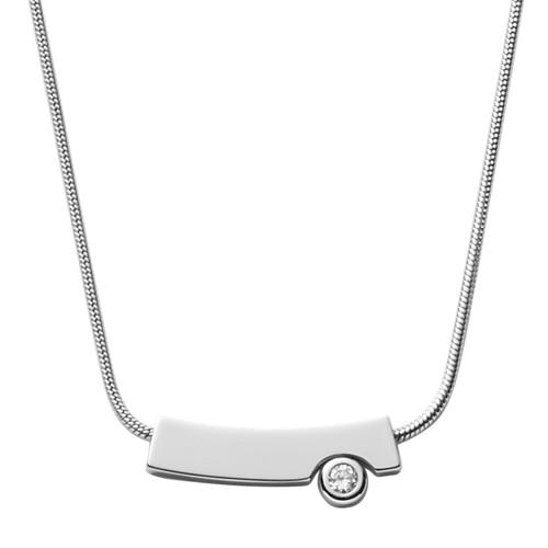 Skagen Elin Silver-Tone Crystal Pendant Necklace Skj1024040 Jewelry - SKJ102..
