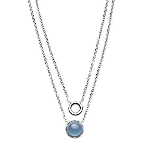 Skagen Sea Glass Silver-Tone Layered Pendant Necklace Skj1046040