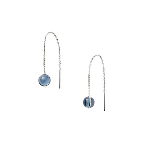 Skagen Sea Glass Silver-Tone Threader Earrings Skj1049040 Jewelry - SKJ10490..
