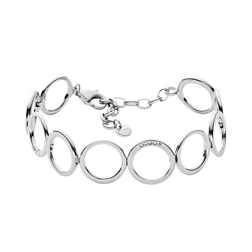 Skagen Elin Silver-Tone Crystal Bracelet Skj1056040 Jewelry - SKJ1056040-WSI