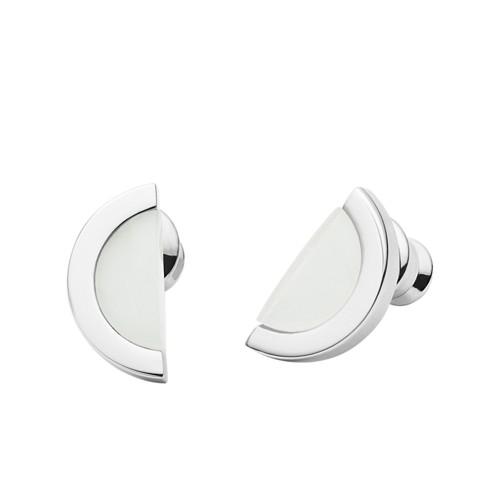 Skagen Sea Glass Silver-Tone Stud Earrings Skj1088040 Jewelry - SKJ1088040-WSI
