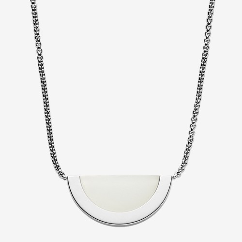 Skagen Sea Glass Silver-Tone Pendant Necklace Skj1089040 Jewelry - SKJ108904..