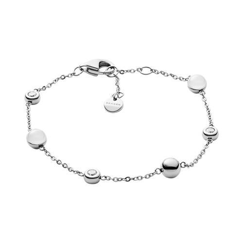 Skagen Sea Glass Silver-Tone Station Bracelet  Jewelry - SKJ1114040