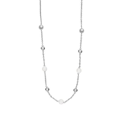 Skagen Sea Glass Silver-Tone Station Necklace Skj1115040 Jewelry - SKJ111504..
