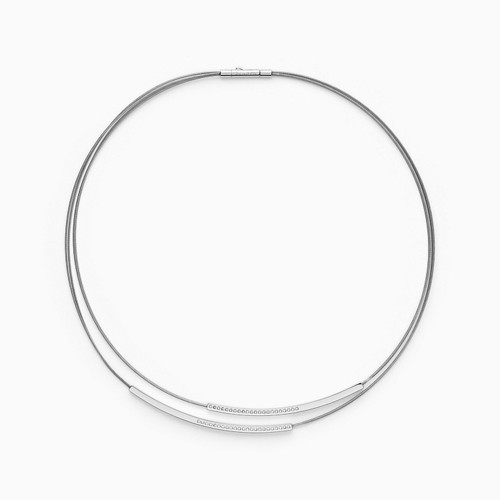 Skagen Elin Silver-Tone Wire Necklace Skj1116040 Jewelry - SKJ1116040-WSI