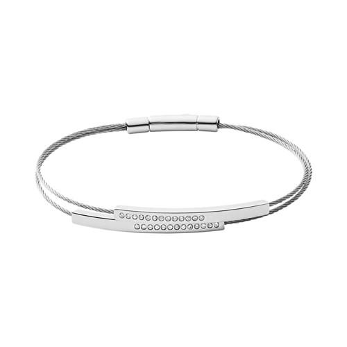Skagen Elin Silver-Tone Wire Bracelet Skj1117040 Jewelry - SKJ1117040-WSI
