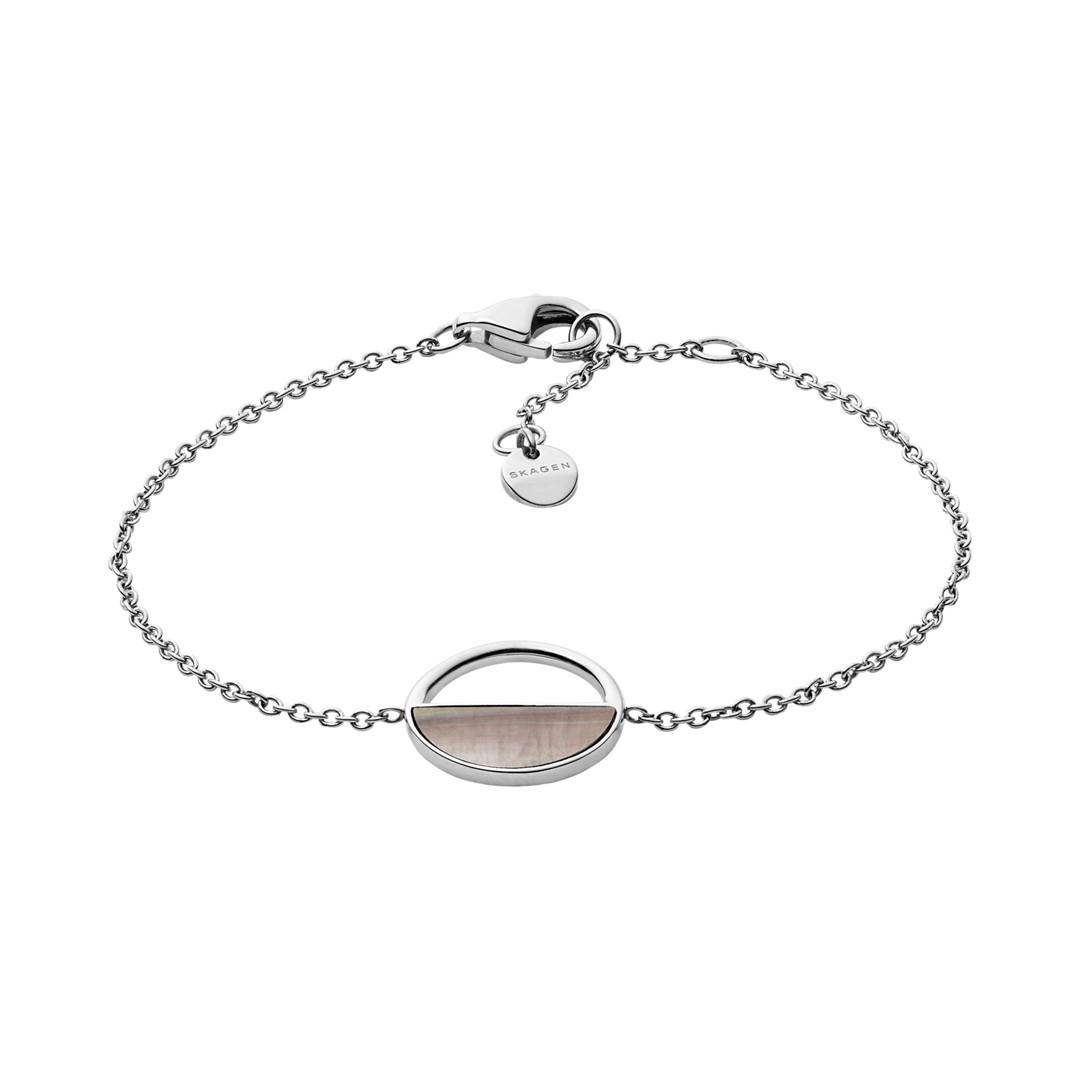 Skagen Agnethe Silver-Tone And Mother-Of-Pearl Bracelet Skj1121040 Jewelry - SKJ1121040-WSI