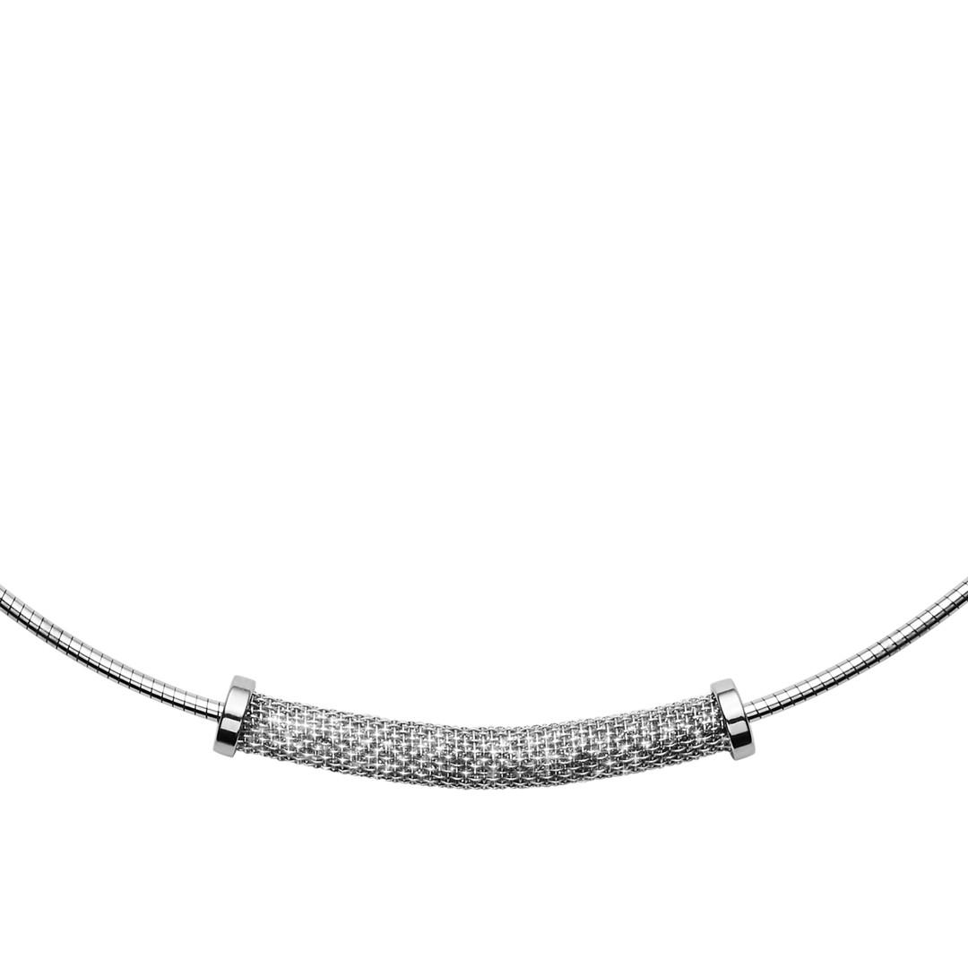 Skagen Merete Silver-Tone Brilliant Mesh Pendant Necklace Skj1204040 Jewelry - SKJ1204040-WSI