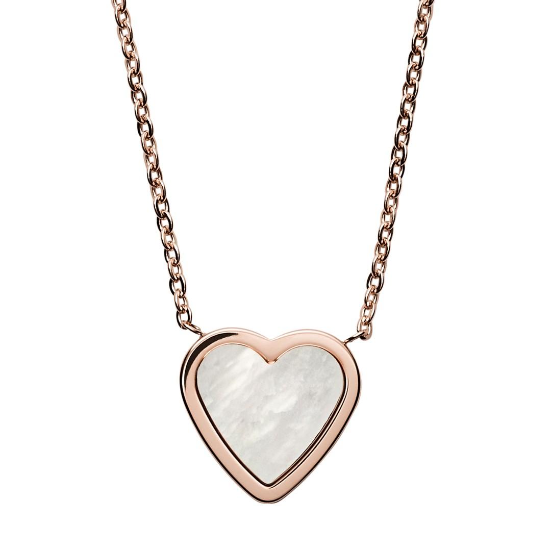 Skagen Katrine Rose Tone Mother Of Pearl Necklace Skj1253791 Jewelry - SKJ1253791-WSI
