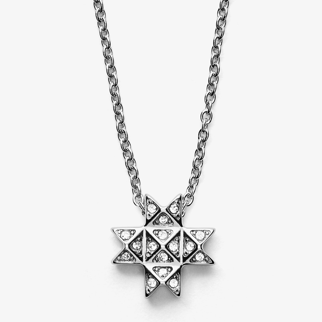 Skagen Elin Silver Tone Stainless Steel Necklace Skj1259040 Jewelry - SKJ1259040-WSI