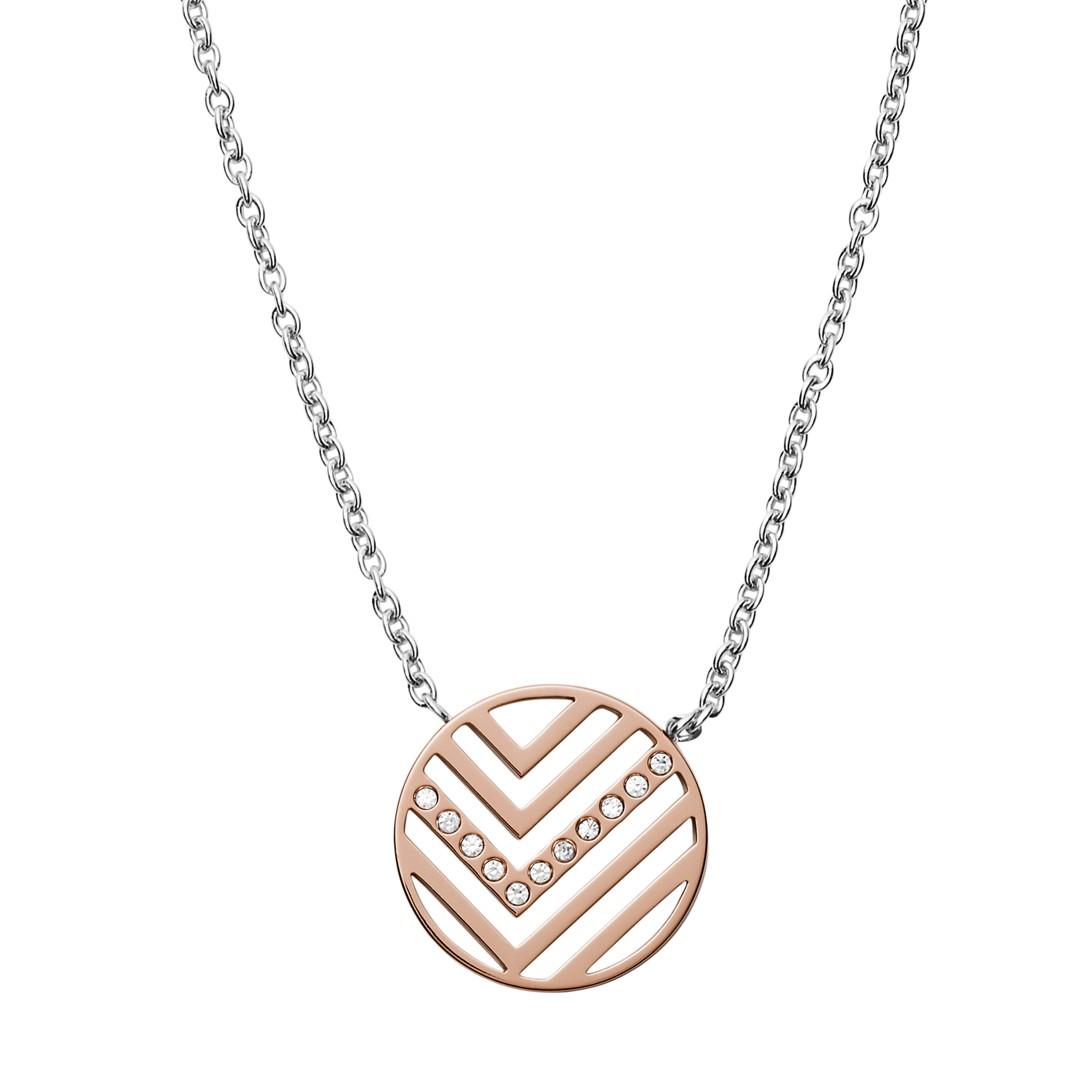 Skagen Elin Two Tone Stainless Steel Necklace Earring Box Set Skjb1001998 Jewelry - SKJB1001998-WSI