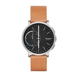 mens titanium watches skagen hagen connected titanium and leather hybrid smartwatch