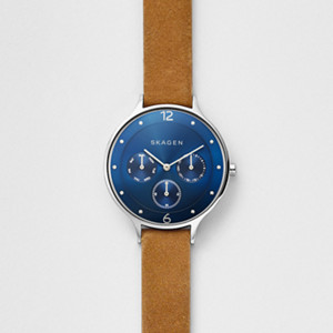Anita Leather Multifunction Watch